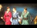 В театре, второй раз на спектакле Инь и Ян, чёрная версия Борис Акунин. Поклон артистов.