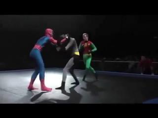Spider vs Batman and Robin