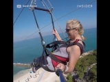 This zip line soars straight to the beach.