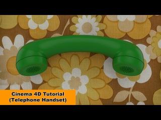 Telephone Handset (Cinema 4D Tutorial)
