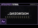 After Effects Tutorial: Glitch Digital Distortion Effect for Motion Graphics