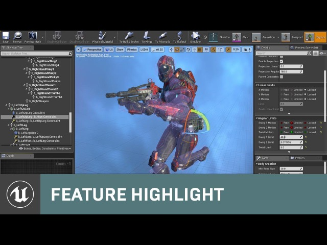 Physics Asset Editor Updates in 4 18 Feature Highlight Unreal Engine Livestream