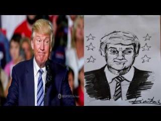Рисуем Дональда Трампа | Draw Donald Trump ( by Din Relik )