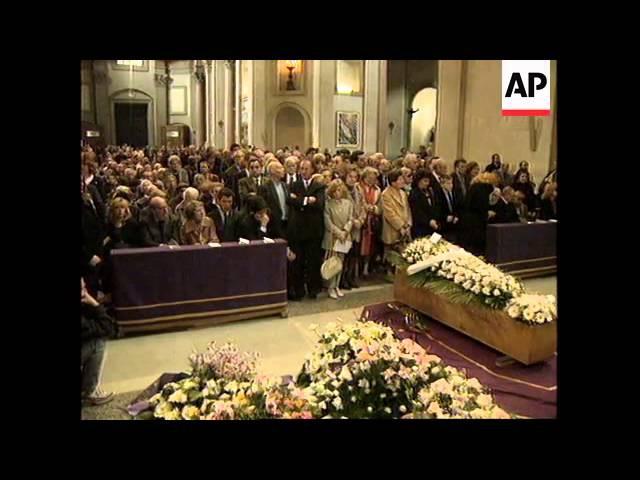 ITALY: ROME: FUNERAL OF EDDA CIANO, DAUGHTER OF BENITO MUSSOLINI