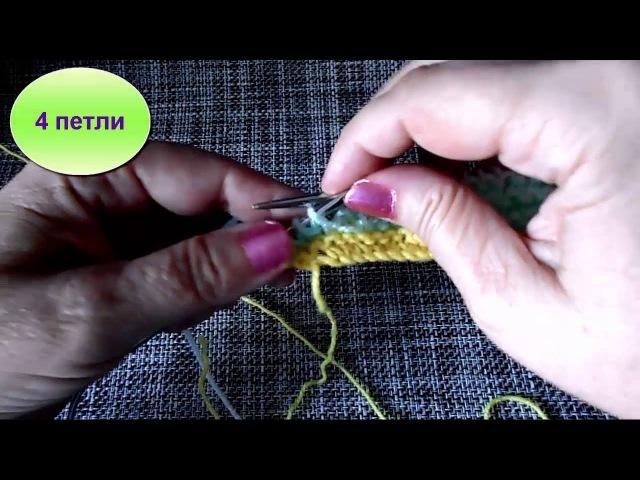 Шаль спицами частичным вязанием мастер-класс Новые видео здесь www.youtube.com/user/LusiTen