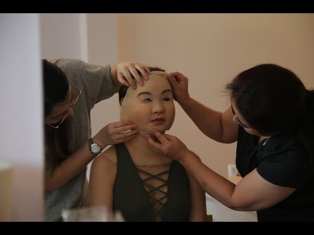 Quá trình Minh Hằng đội lớp silicon nặng 15 kg để đóng phim Sắc đẹp ngàn cân