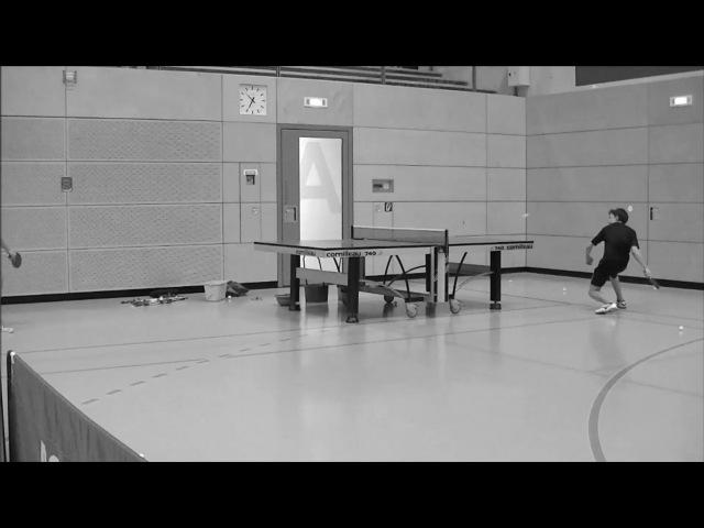 Forehand topspin against defense short pimples Vorhand Topspin gegen Abwehr kurze Noppen