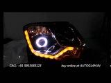 AGRD331CW, RENAULT Duster 2016 AUDI Style DRL AES 55 watt, 6000K XENON HID Projector Headlights
