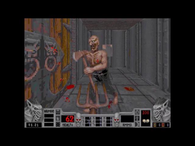 Blood playthrough. Episode 1, Level 3 (Phantom Express) (No weapon at start, All secrets found)