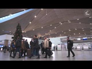Предрождественнский перфоманс в Пулково - Christmas eve perfomance in Pulkovo Airport