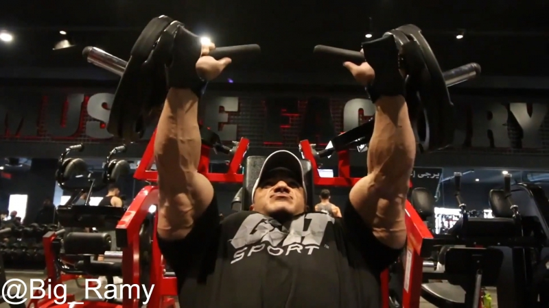 Big Ramy Trains Chest - 12 Days Out from Mr.Olympia 2017