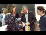 Посчастливилось после пресс-конференции взять автограф с пожеланием удачи у художественного руководителя Театра Наций и Фестивал