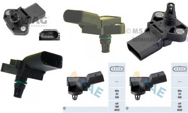 Датчик, температура впускаемого воздуха; Датчик, давление наддува для AUDI Q5 (8R)