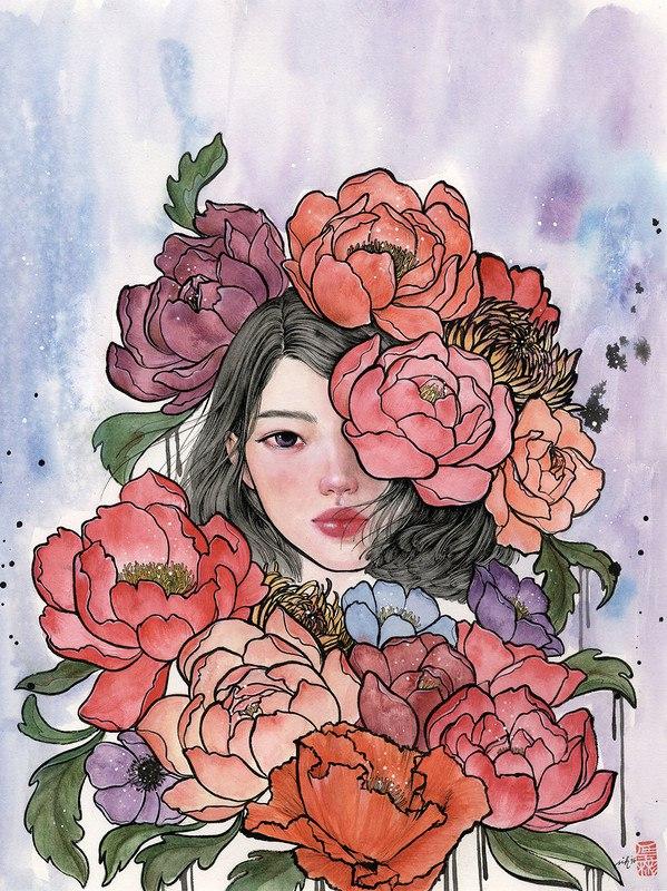 Ab K 1qfsdc - Картины корейской художницы Стеллы Им Халтберг