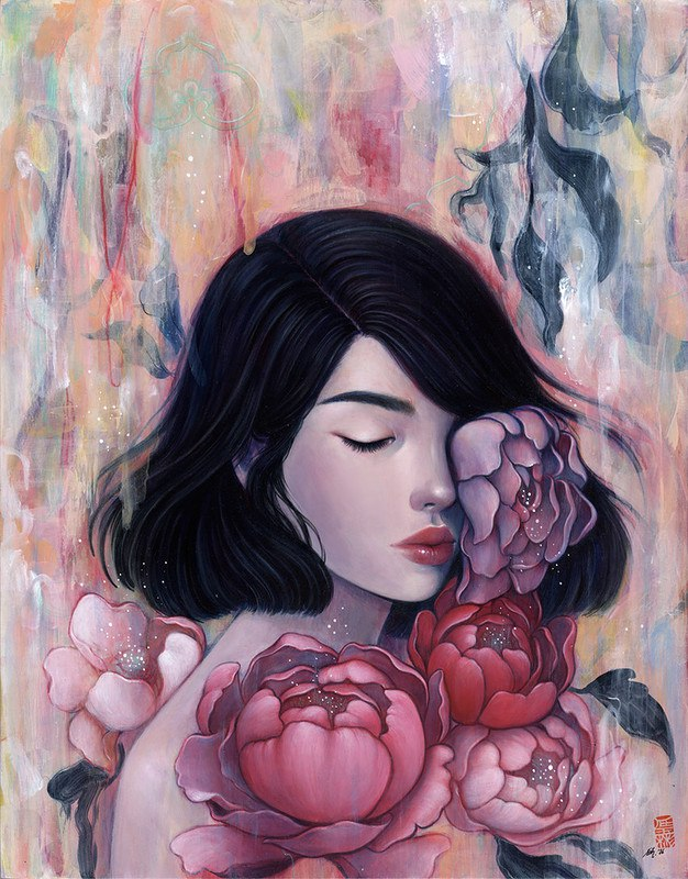 t tRdDPEbpE - Картины корейской художницы Стеллы Им Халтберг