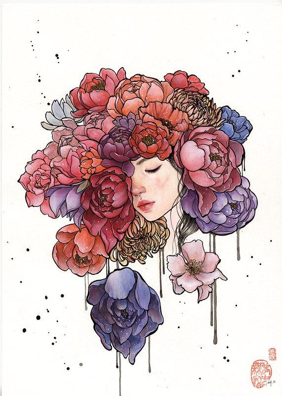 gS53USGXHoU - Картины корейской художницы Стеллы Им Халтберг