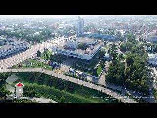 Аэросъемка города Ульяновск. Ленинский мемориальный комплекс с площадью
