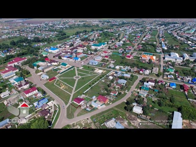 Аэросъемка села Базарные Матаки (Алькеевский район, Татарстан)