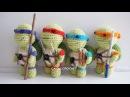 Tortugas Ninja amigurumi tutorial
