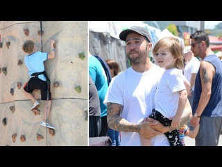 Pete Wentz Takes Sons Bronx, 8 and Saint, 2, Out For Some Playtime In Hollywood