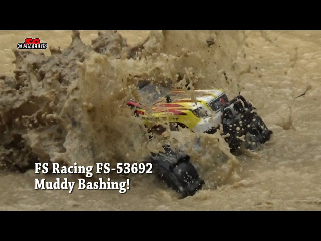 Bashing in trails! FS Racing FS-53692 1:10 2.4G 4WD Brushless Water Monster Truck Hydroplaning