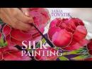 Batik Silk painting authentic dresses creation by Sasha Tovstik
