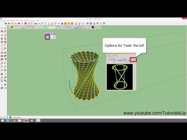 How to use curviloft plugin in sketchup Complete video