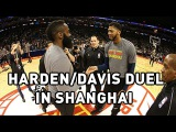 James Harden and Anthony Davis Clash in Shanghai #NBANews #NBA