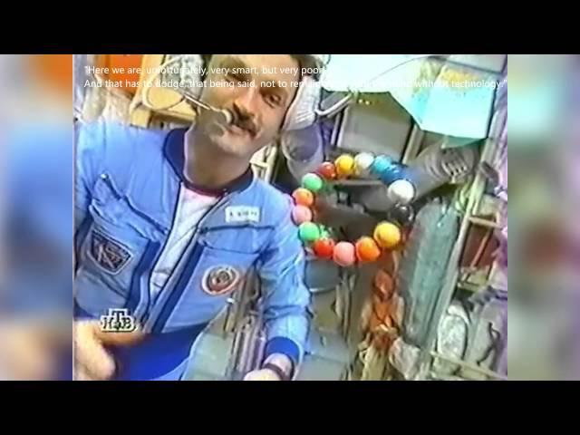 Затопление орбитальной станции Мир / Flooding the space station Mir