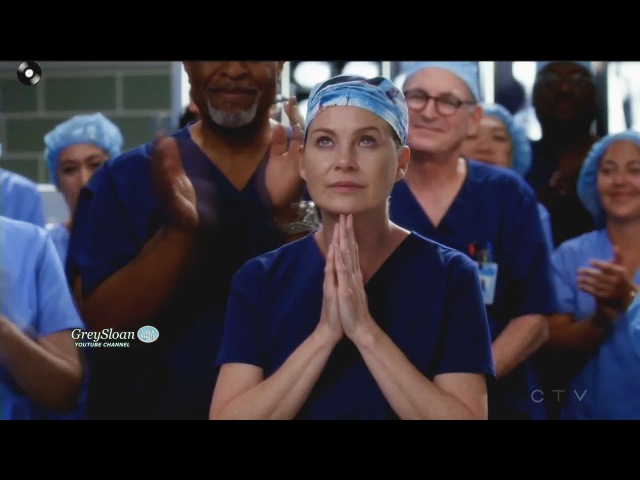Grey's Anatomy 14x07 Meredith Gets her Award while in OR via Long Distance Season 14 Episode 7