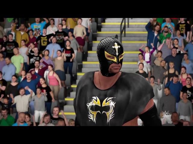 Roman Reigns Seth Rollins vs Sin Cara Rey Misterio Tag Team Championship