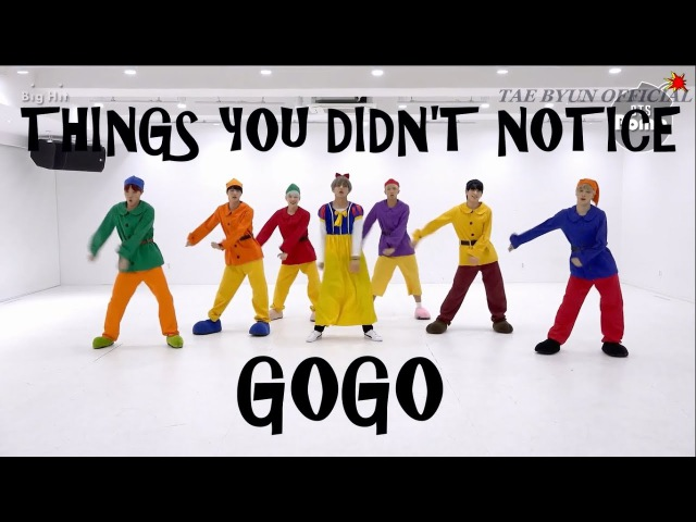 BTS THINGS YOU DIDNT NOTICE IN GOGO DANCE PRACTICE(HALLOWEEN VER)