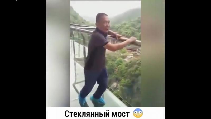Поведение людей на стеклянном мосту. Акрофобам не