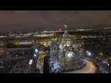 St. Petersburg, Russia - Spilt Blood Church and Kazan Cathedral - DJI Drone  4K