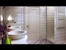 Маленькая ванная комната. Удобный дизайн интерьера.