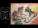 How to draw mushrooms (watercolor, gouache, pastel, colored pencils)