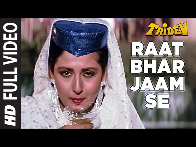 Raat Bhar Jaam Se Full HD Video Song Tridev Sunny Deol Sonam