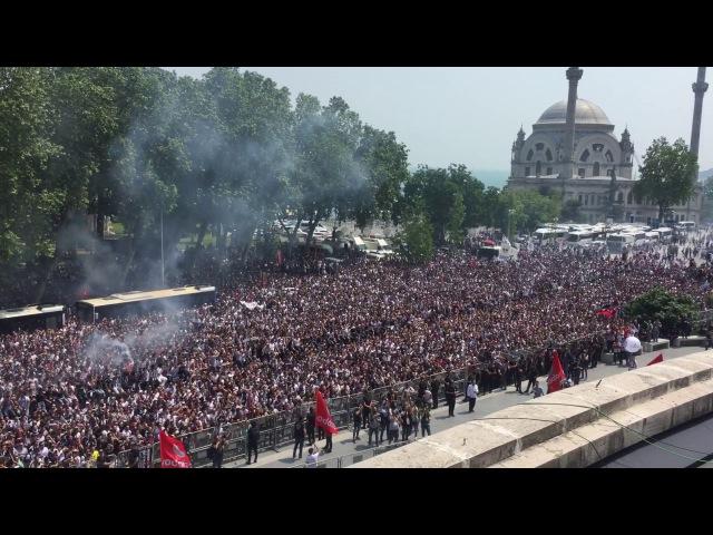 Beşiktaş Şampiyonluk Kutlamaları Taraftar ile birlikte karşılıklı tezahürat