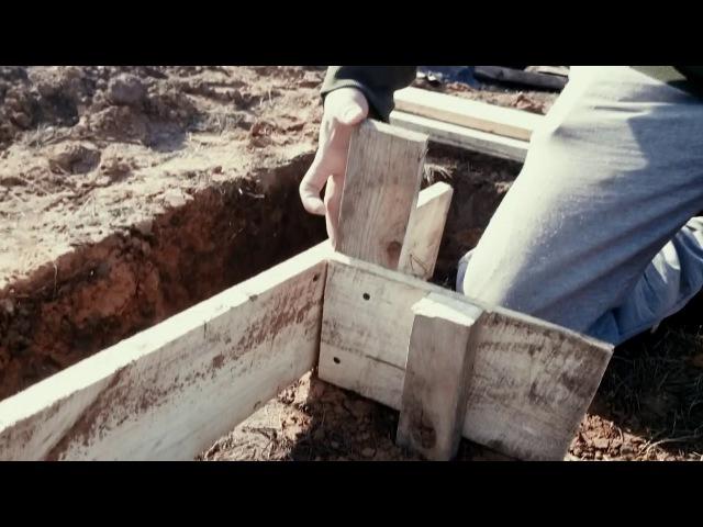Ленточно-столбчатый фундамент своими руками, для дома из газобетона Часть 1