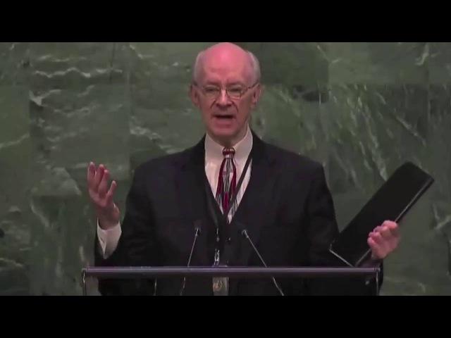 Ли Стоунгинг, свидетльство о воскрешении. Генеральная Ассамблея ООН. Нью Йорк, 22.04.2015 г.