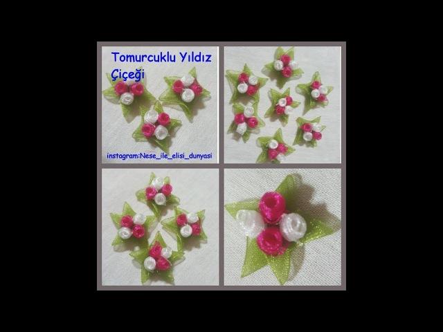 Yıldız çiçeğiTomurcuklu Yıldız ciceğiKurdela oyaları(videolu anlatım)
