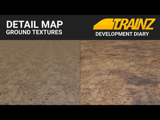 Trainz Dev Diary - Detail Map Ground Textures (sneak peek)