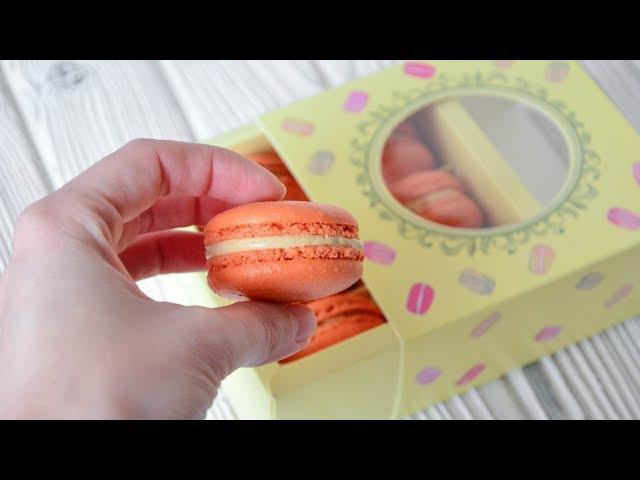 Макарон на французской меренге ☆ Начинка КРЕМ-карамель ☆ Macaron