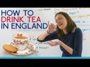 Drinking tea in England