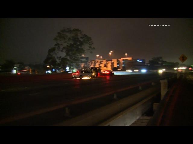 Caught on Camera Multi Car Crash 10 Fwy / Mid City