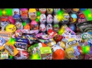 Киндер новогодний МЕГА выпуск, открываем 217 Киндер Сюрпризов Kinder Surprise unboxing