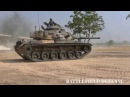 Танк M60A3 в действии. Армия Таиланда,