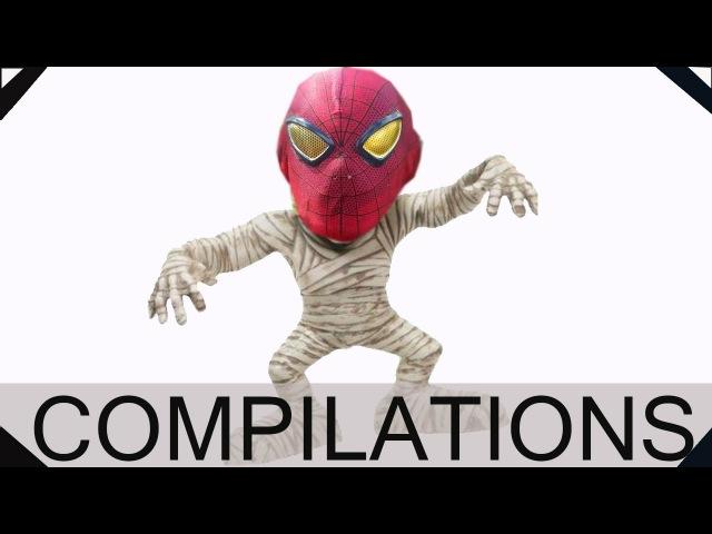Joker becomes GHOST Ghost Attack w Spider Man Frosen Elsa Batman Loker Superhero Fun in Real Life