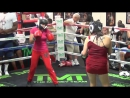 14 year old girl schools lady boxer at Mayweather Boxing Club - A beating!