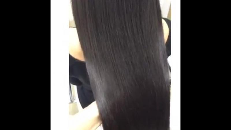 Кератиновое лечение и выпрямление волос.